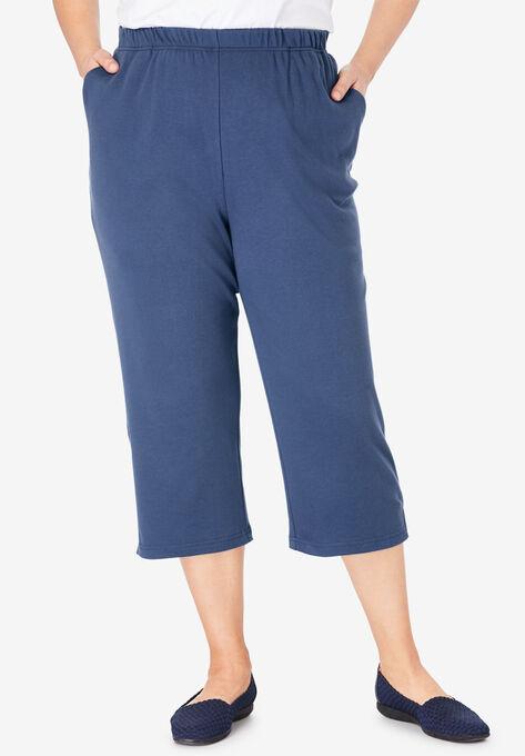9dc0ddf0 7-Day Knit Capri| Plus Size Capris | Woman Within