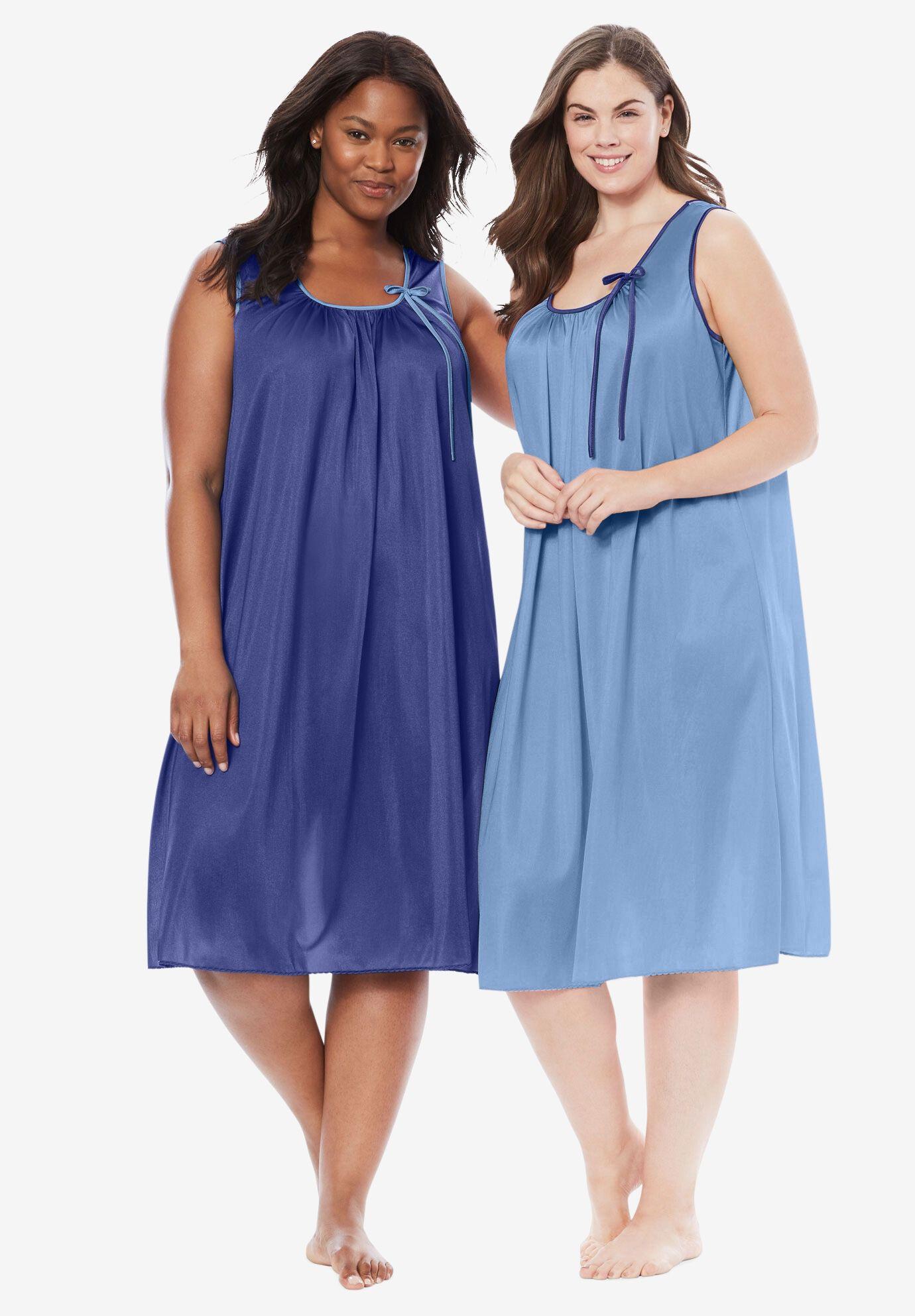 Ladies Plain Teal Turquoise Satin Chemise Nightie Nightdress PLUS SIZE 10-34!