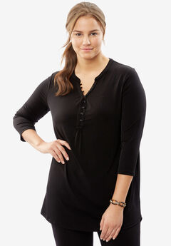 Simply Special Knit Button-Front Tunic,