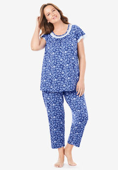 Dreams & Co.® Lace Trim PJ Set,