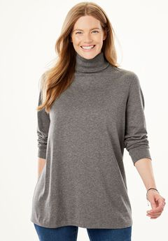 Turtleneck Long Sleeve Perfect Tee,