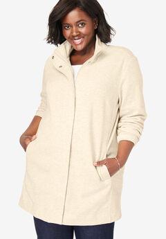 Fleece Zip Front Jacket,