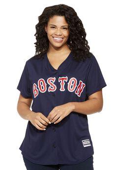 MLB® V-neck jersey tee , RED SOX, hi-res