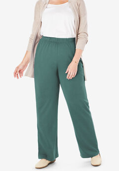 7-Day Knit Wide Leg Pant, ANTIQUE TEAL
