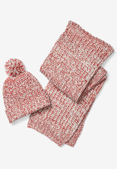 Marled Hat and Scarf Set,