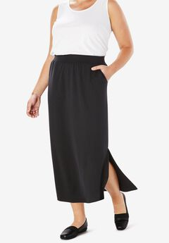 Stretch Ponte Maxi Skirt,