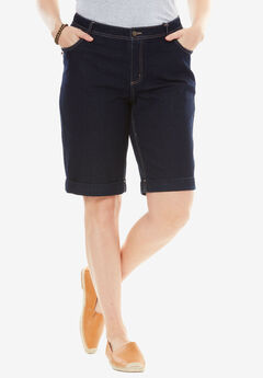 Stretch Jean Bermuda Short, INDIGO