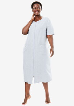 Short Sleeve French Terry Robe by Dreams & Co.®,