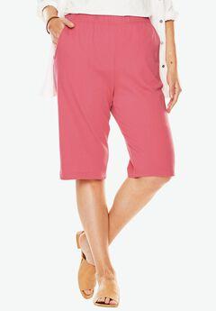 7-Day Knit Bermuda Shorts, BEGONIA, hi-res
