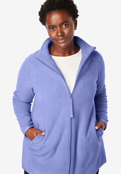 Zip-Front Microfleece Jacket, FRENCH LILAC
