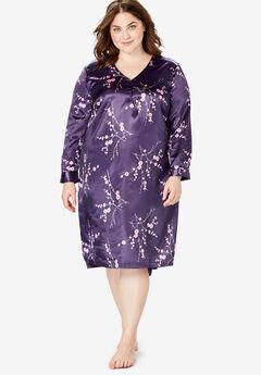 Amoureuse® Satin Henley Sleep Gown,