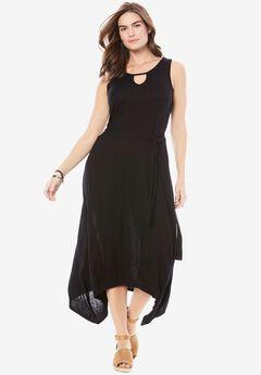 Keyhole Dress by Chelsea Studio®, BLACK, hi-res