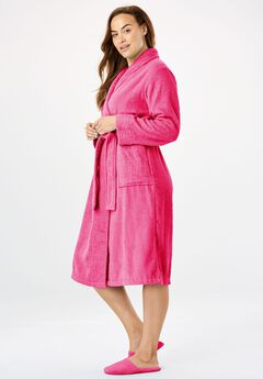 Short Terry Robe with FREE Matching Slippers by Dreams & Co®,