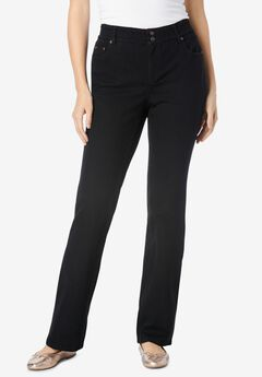 Bootcut Stretch Jean, BLACK DENIM