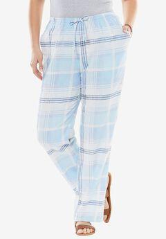 Linen-Blend Drawstring Pants,
