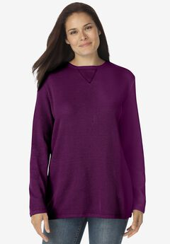 Thermal Sweatshirt, PLUM PURPLE