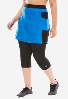 Skirted Capri, BRIGHT COBALT BLACK, hi-res