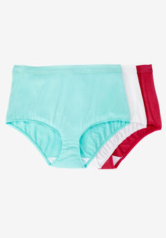 3-Pack Modal Full-Cut Brief by Comfort Choice®, BRIGHT PACK, hi-res