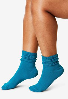 3-Pack Cotton Crew Socks by Comfort Choice®, , hi-res