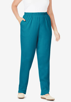 7-Day Knit Straight Leg Pant, DEEP TEAL