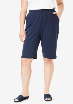 7-Day Knit Bermuda Shorts, NAVY
