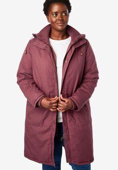Jacket, stadium style in twill, ANTIQUE MAROON, hi-res