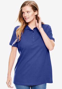 Perfect Short-Sleeve Polo Shirt, ULTRA BLUE