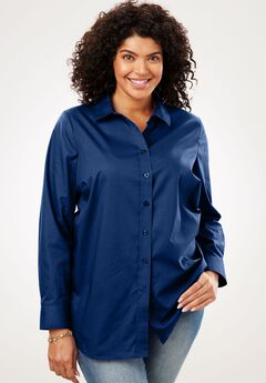 Perfect Button Down Shirt, EVENING BLUE, hi-res