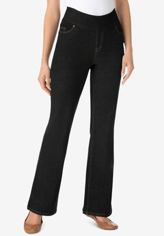 Bootcut Smooth Waist Jean, BLACK DENIM