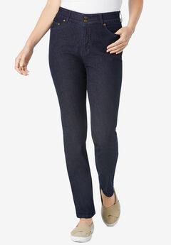 Straight Leg Tummy Tamer Jean, INDIGO, hi-res