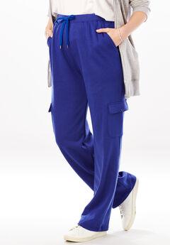 Fleece Cargo Sweatpant, ULTRA BLUE
