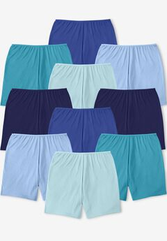 Comfort Choice® 10-Pack Cotton Boxer, BLUE MULTI PACK