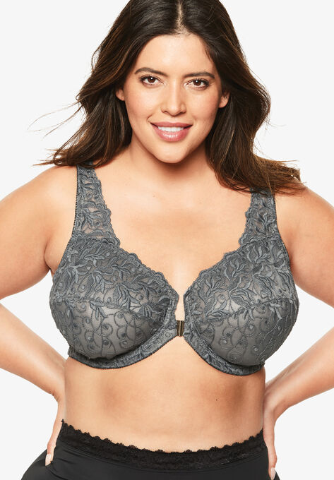889af5ecb25b Embroidered Front-Close Underwire Bra by Amoureuse®  Plus Size Front ...