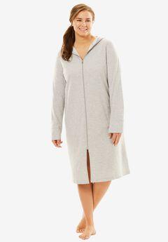 Short Zip-Front Robe by Dreams & Co.®,