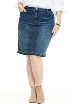 Perfect Denim Skirt, RELEASED HEM, hi-res