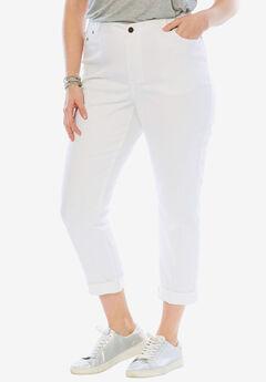 Girlfriend Stretch Jean, WHITE
