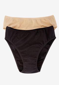 2-Pack Stretch Cotton Bikini by Comfort Choice®, BASIC PACK, hi-res