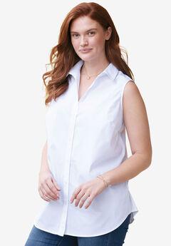 Perfect Button Down Sleeveless Shirt,
