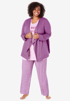 French Terry Wrap with Pockets by Dreams & Co.®, RADIANT ORCHID