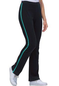 Stretch Cotton Side-Striped Bootcut Yoga Pant,