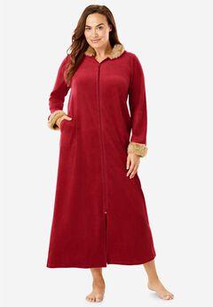 Fur-Trimmed Hooded Robe,