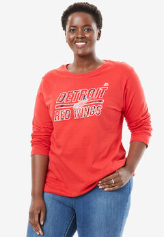 NHL Long Sleeve Tee, RED WINGS