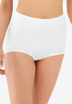 Cool cotton shaping stretch brief by Bali®, WHITE, hi-res