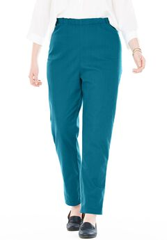 Straight Leg Fineline Jean, BLUE TEAL, hi-res