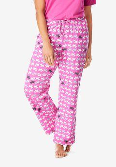 Knit Sleep Pant by Dreams & Co.®, ROSEBUD SCOTTIES