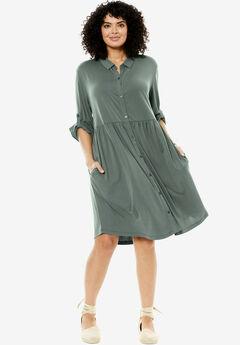 Drapey Shirtdress,