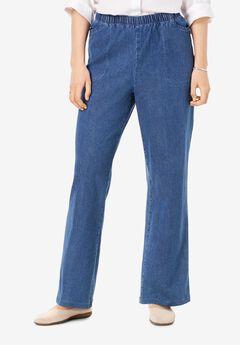 Wide Leg Fineline Jean, LIGHT STONEWASH, hi-res