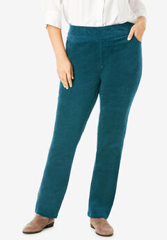 Pull-On Straight Leg Corduroy Pant,