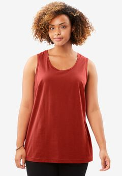Perfect Tank Top, RED OCHRE, hi-res