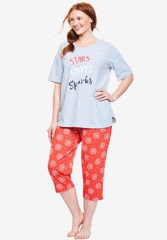 Graphic Tee Capri PJ Set by Dreams & Co.®,